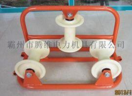 滑轮电缆放线滑轮坐挂两用滑车尼龙轮60-120