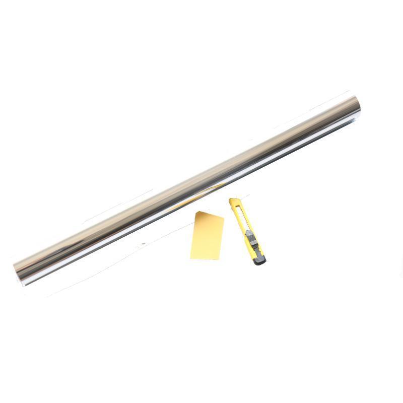批发彩盒装窗户银光隔热膜单向  蓝底镜面膜小支方便出口产品