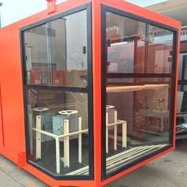 1.4*1.6司機室外殼 優質鋼化玻璃司機室操作室
