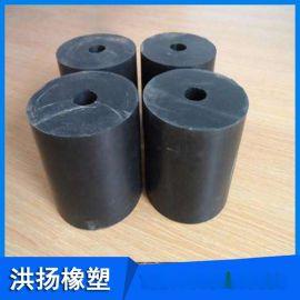 橡胶减震器 圆柱形橡胶缓冲垫块 橡胶缓冲减震弹簧