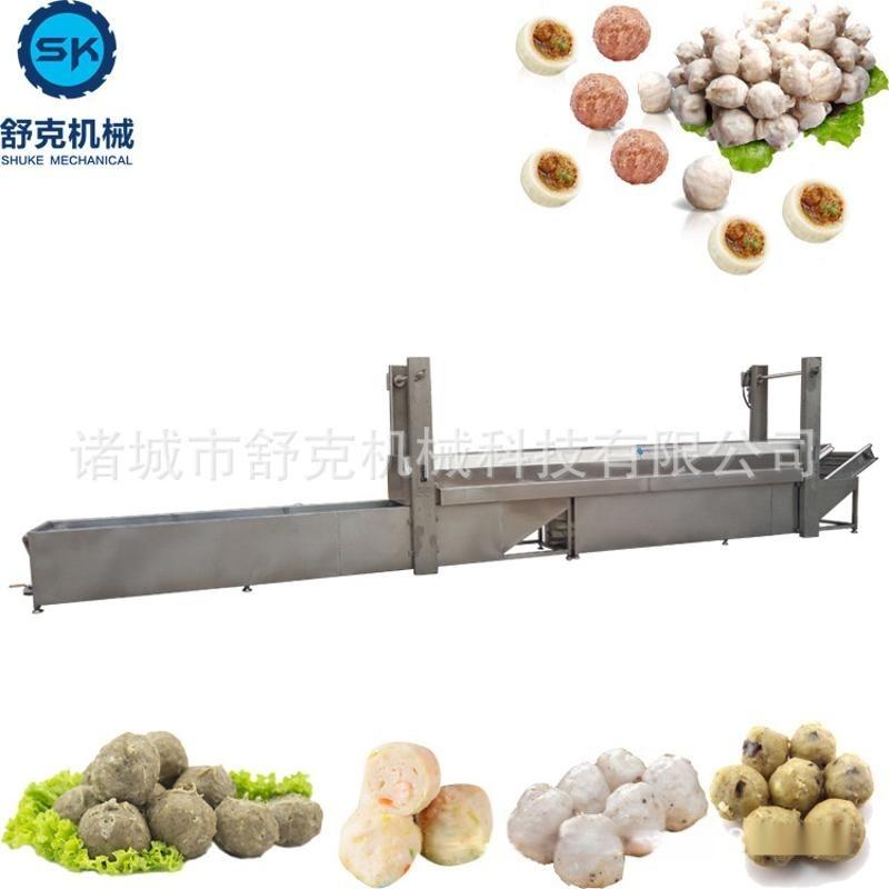 爆款推薦速凍菠菜丸子成套加工設備 全套成型蒸煮冷卻蔬菜丸子線