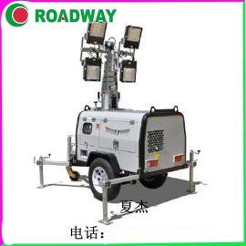 1000*4KW液压照明车RWZM61C,拖车式照明车路得威厂家照明灯车
