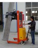 建筑行业用半电动堆高车, 楼板夹抱翻转半电动堆高车