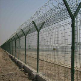 安平厂家 监狱护栏网 巡逻道防攀爬金属隔离网墙 Y型立柱防护网
