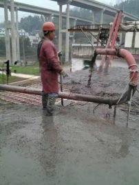滚桶搅拌拖泵 小型水泥泵 混凝土地泵价格
