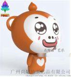 园林景观雕塑 卡通动物雕塑玻璃钢猴子造型创意摆件工艺品 H155CM现货供应