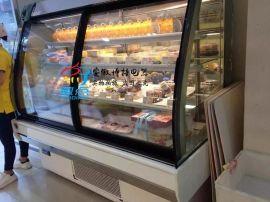 欧式豪华蛋糕柜,立式弧形前开门蛋糕柜,前开门四层蛋糕展示柜