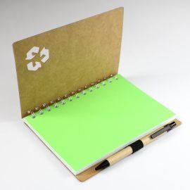 安徽供应环保纸质封面线圈本、商务赠送笔记本、印刷广告活页本