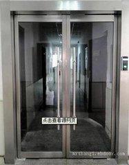太原安装玻璃门定做不锈钢玻璃门玫瑰金玻璃门