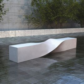 广州工厂直销玻璃钢麻花型休闲椅 玻璃钢创意家具 大型商场座椅