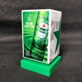 廠家生產LED酒吧桌燈充電亞克力創意吧檯燈方形咖啡廳廣告桌燈