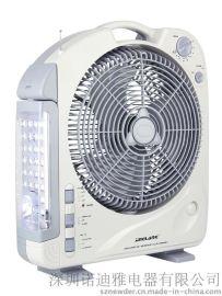 供应292BL 12英寸多功能充电式风扇(带LED照明 收音机)