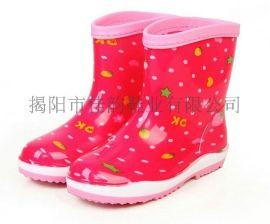 揭阳厂家女款三色底时尚雨鞋