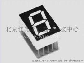 0.52英寸单一1位led数码管黄绿光北京天津河北仪器仪表面板数字显示,电子时钟厂家