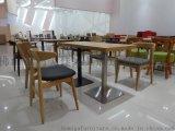 休闲实木餐桌椅,茶餐厅实木餐桌椅广东鸿美佳厂家提供