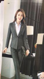上海红万男女款职业西装制服 工作服西服定制