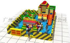 **玩的积木城堡可拆卸