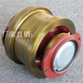 科尼生产Φ160被动车轮组高强度球墨铸铁车轮