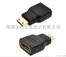 迷你HDMI转HDMI转换头 转接头 连接头 深圳