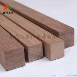 高端黑胡桃木木方家具装修材料实木木材