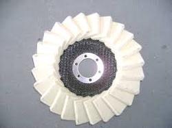 羊毛百叶轮125mm*0.4g/cm3毛毡抛光轮