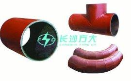 耐磨陶瓷弯头    耐磨管件   耐磨陶瓷管