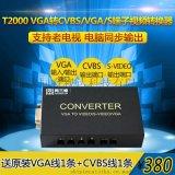 同三维T2000 转换器 VGA转AV/BNC/S-VIDEO端子/复合音视频