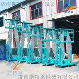 山東廠家供應14米雙柱鋁合金升降機移動液壓高空作業升降平臺