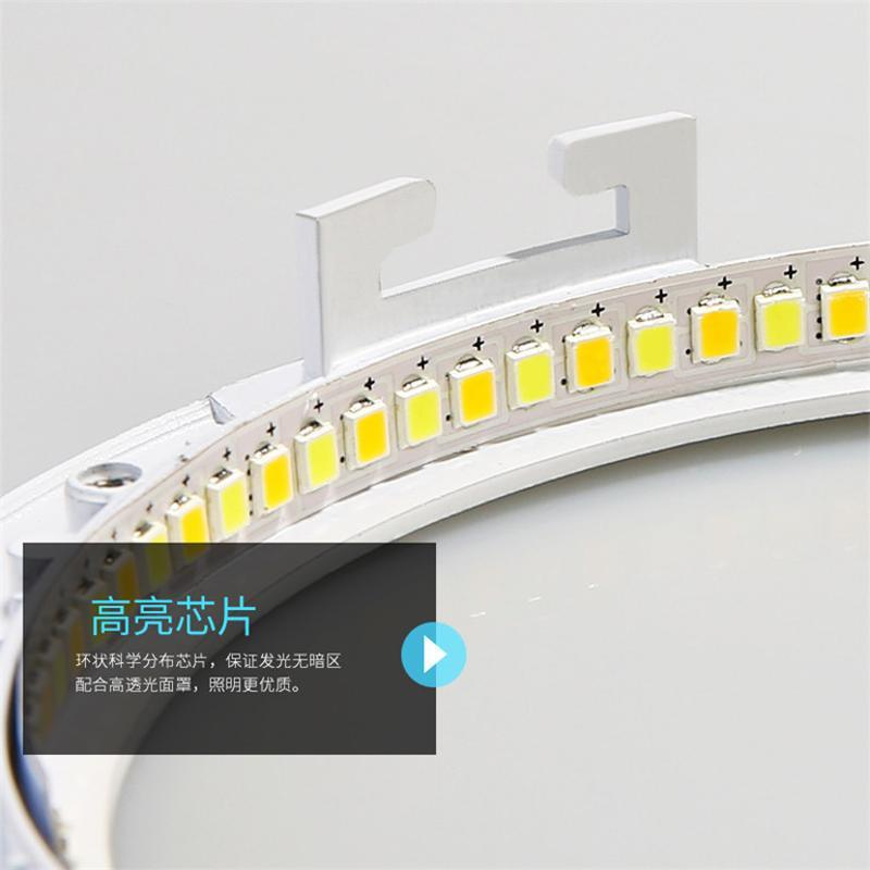 led面板灯 方形圆形防水雾3w2.5寸4寸6寸8寸天花板孔筒灯射灯