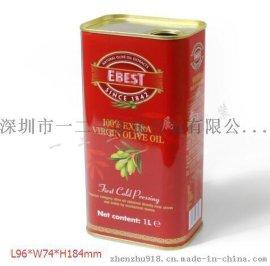 贝丽斯同款食用油铁罐包装 食用油罐包装设计 橄榄油罐价格