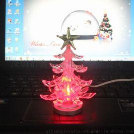 USB LED七彩发光圣诞树(BC303B-4)BC303B-4