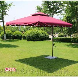 手扳傘實惠側立傘簡易邊柱傘