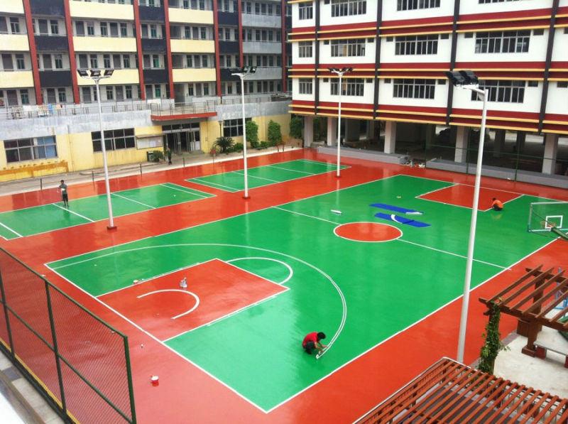 河池大化县做塑胶篮球场公司 用的都是环保硅PU材料