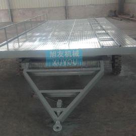 叉车牵引式平板拖车厂区货物转运车平板拖车托运工具车