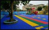 宝山区气垫悬浮地板篮球场塑胶地板拼装地板