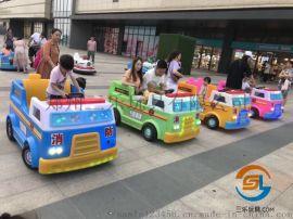 广场儿童碰碰车更多新款双人电瓶车户外游乐