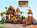 大型兒童室內外遊樂設施進口木質滑梯木質小博士組合滑梯
