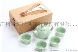 5头汝窑陶瓷礼品茶具套装 广州智汇行礼品