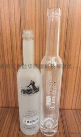 700ml玻璃葡萄酒瓶,磨砂烤花玻璃葡萄酒瓶