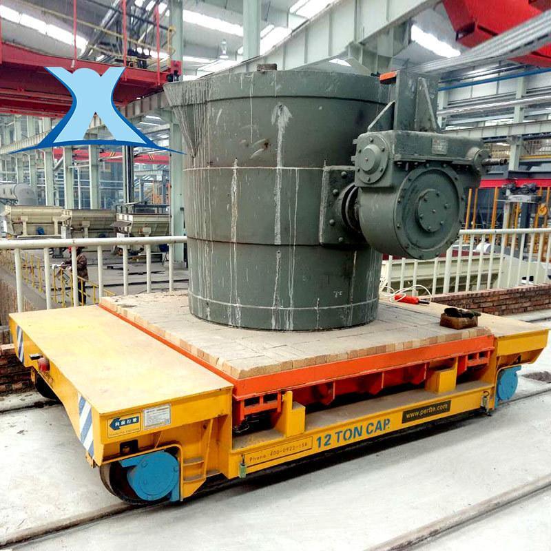 百特钢卷搬运蓄电池轨道车 实验台 钢板运输转弯车