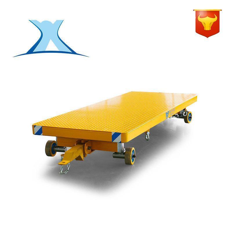 非标定制厂区平板拖车 转运物流牵引车 货物搬运低压地平车