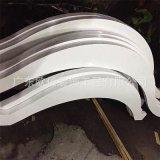 重慶火鍋店2.5焊接弧形鋁單板  單弧/雙弧波浪造型鋁方通幕牆