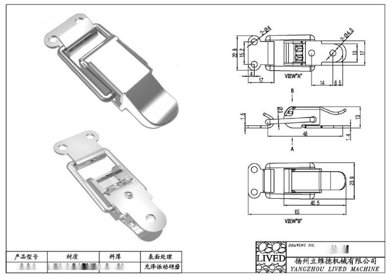 供应多种型号的 【质量保证】 SUS304不锈钢搭扣