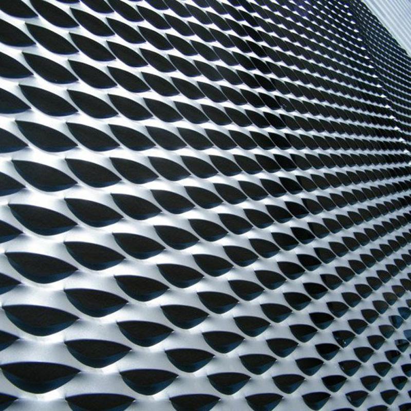 幕牆裝飾網 長六角穿孔裝飾網 外牆裝飾鋁板裝飾網