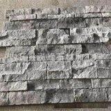 河北出品黑灰色文化石大理石粘聚 天然文化石背景牆高檔裝飾材料