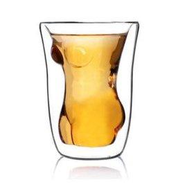 手工吹制玻璃双层杯/时尚个性**造型杯