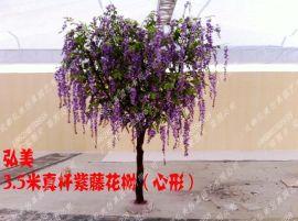 成都紫藤花树生产厂家 仿真紫藤花生产 假紫藤树定做 紫色树定做 成都假树生产