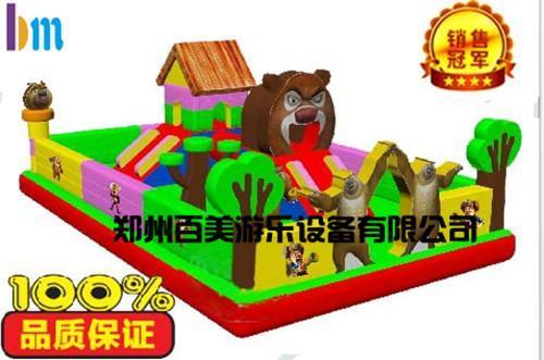 贵阳小型熊出没儿童充气城堡/充气蹦蹦床厂家直销
