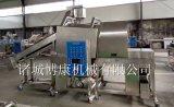 廠家直銷全自動雞米花專用滾筒上粉機、上粉均勻產量高