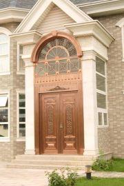 武汉铜门厂生产别墅铜门工程铜门旋转铜门